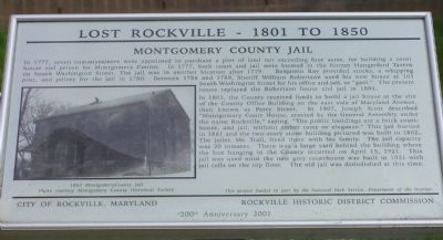 Montgomery County Jail Marker image. Click for full size.