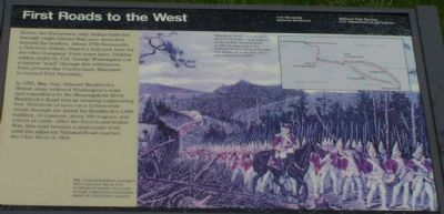 First Roads to the West Marker image. Click for full size.