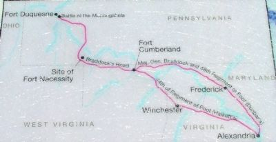 Route of Braddock's March image. Click for full size.