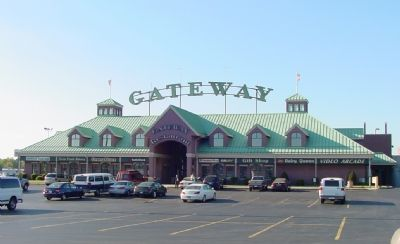 The Gateway Travel Plaza, Where You'll Find the Marker image. Click for full size.