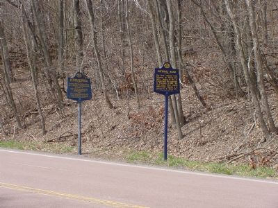 Pennsylvania and National Road Markers image. Click for full size.