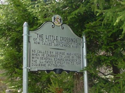 The Little Crossings Marker at the West End of the Bridge image. Click for full size.