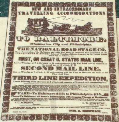 Close Up of Advertisement Reproduced on Marker image. Click for full size.