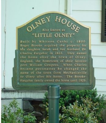 Olney House Marker image. Click for full size.