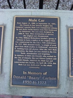 Mule Car Marker image. Click for full size.