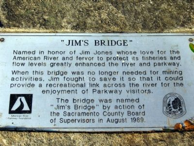 Jim's Bridge Marker image. Click for full size.