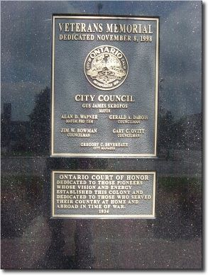 Memorial and Court of Honor Markers image. Click for full size.