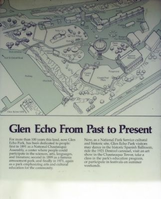 Glen Echo From Past to Present Marker image. Click for full size.