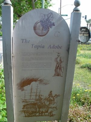 The Tapia Adobe Interpretative Sign image. Click for full size.