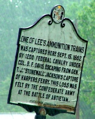 One of Lee's Ammunition Trains Marker image. Click for full size.