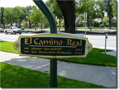 "El Camino Real (""The Royal Road"") Signpost image. Click for full size."