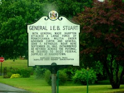 General J. E. B. Stuart Marker image. Click for full size.