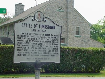 Battle of Funkstown Marker image. Click for full size.