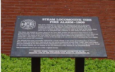 Steam Locomotive Tire Fire Alarm Marker image. Click for full size.