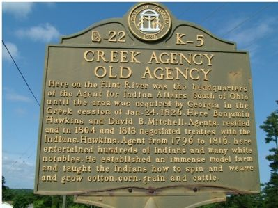 Creek Agency - Old Agency Marker image. Click for full size.
