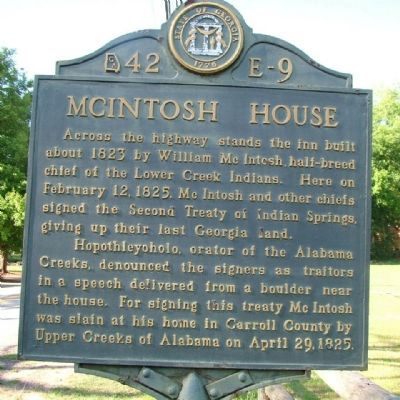McIntosh House Marker image. Click for full size.