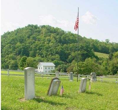 The Leftmost Stone Marks John Friend Sr.'s Grave image. Click for full size.