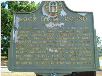Rock Eagle Mound Marker image. Click for full size.