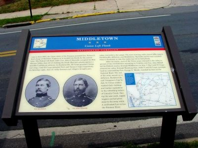 Middletown – Union Left Flank Marker image. Click for full size.