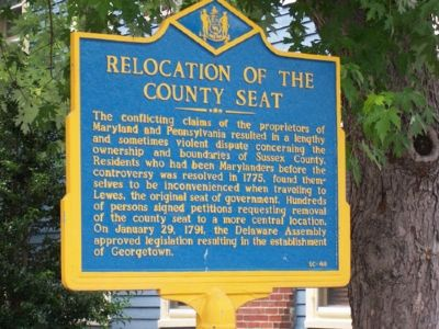 Relocation of the County Seat Marker image. Click for full size.