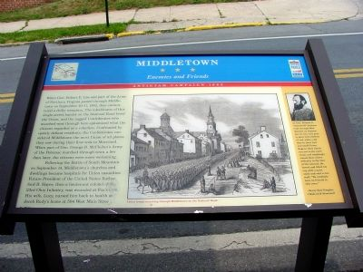 Middletown – Enemies and Friends Marker image. Click for full size.