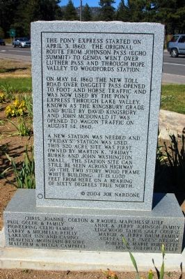 Friday's Added Station Marker, Back image. Click for full size.