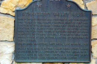 Strawberry Valley House Marker image. Click for full size.