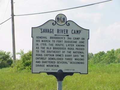 Savage River Camp Marker image. Click for full size.