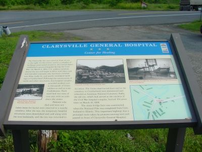 Clarysville General Hospital Marker image. Click for full size.