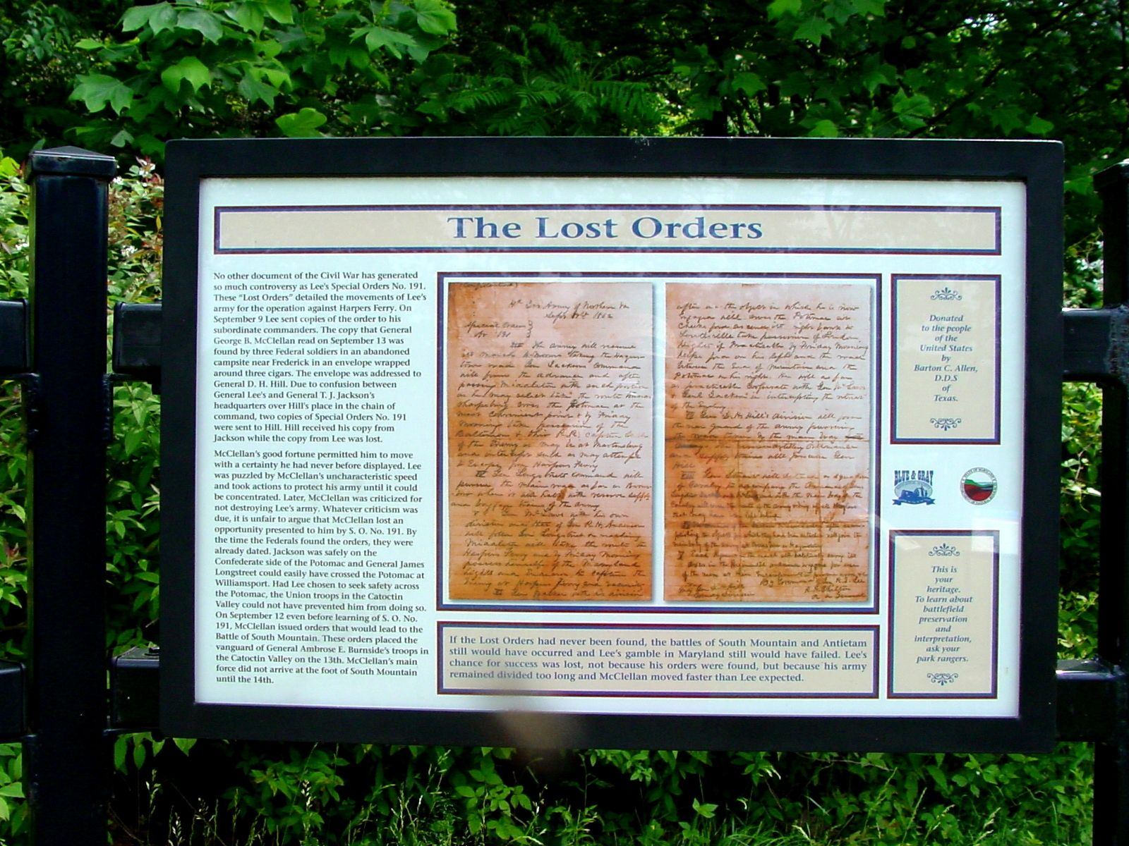 The Lost Orders Marker