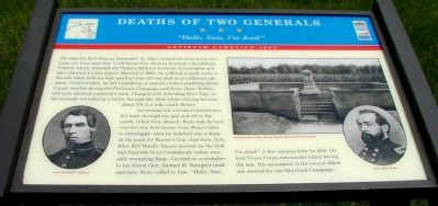 Deaths of Two Generals Marker image. Click for full size.