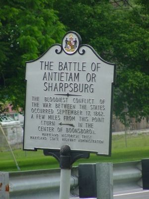 The Battle of Antietam or Sharpsburg Marker image. Click for full size.