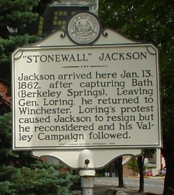Marker's Stonewall Jackson Face image. Click for full size.