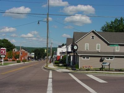Main Street Looking East, Marker is on the Right image. Click for full size.