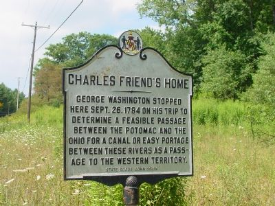 Charles Friend's Home Marker image. Click for full size.