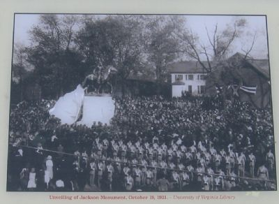 Unveiling of the Jackson Monument, October 18, 1921. image. Click for full size.