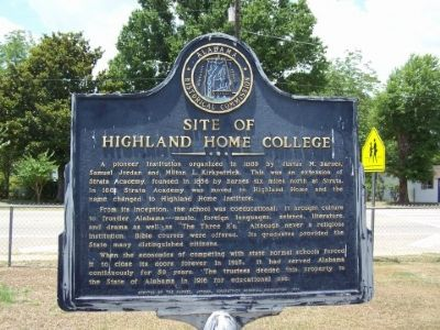 Site of Highland Home College Marker image. Click for full size.