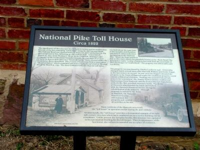 National Pike Toll House Marker image. Click for full size.