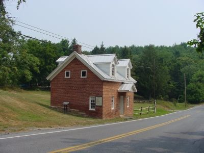 Old Bank Road Toll House and Marker image. Click for full size.