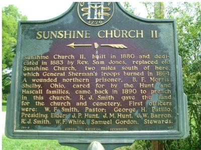 Sunshine Church II Marker image. Click for full size.
