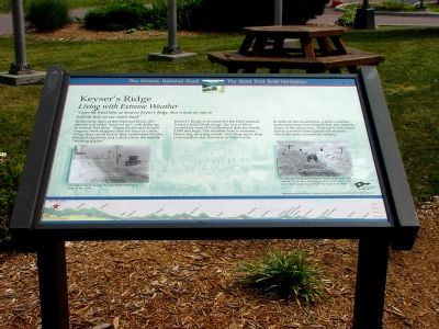 Keyser's Ridge Marker image. Click for full size.