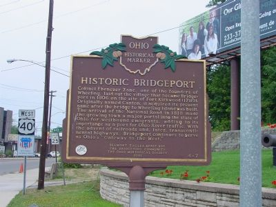 Historic Bridgeport Marker image. Click for full size.