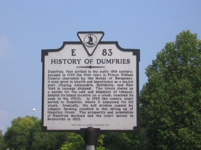History of Dumfries Marker image. Click for full size.