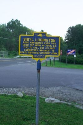 Sibyl Ludington Marker image. Click for full size.