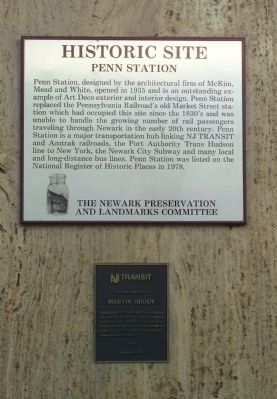 Penn Station Historic Site Marker image. Click for full size.