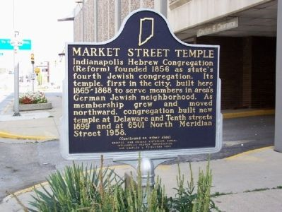 Side one: Market Street Temple Marker image. Click for full size.