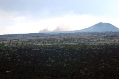 Wildfire on Devil's Homestread as seen from marker image. Click for full size.