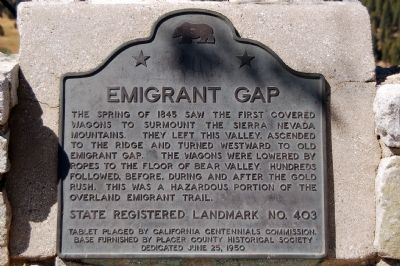 Emigrant Map Marker Photo
