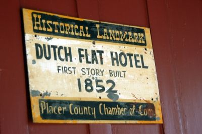 Dutch Flat Hotel Marker image. Click for full size.