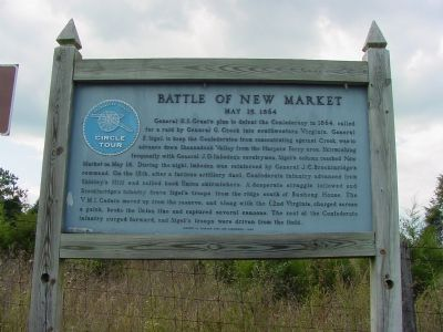 Battle of New Market Marker image. Click for full size.